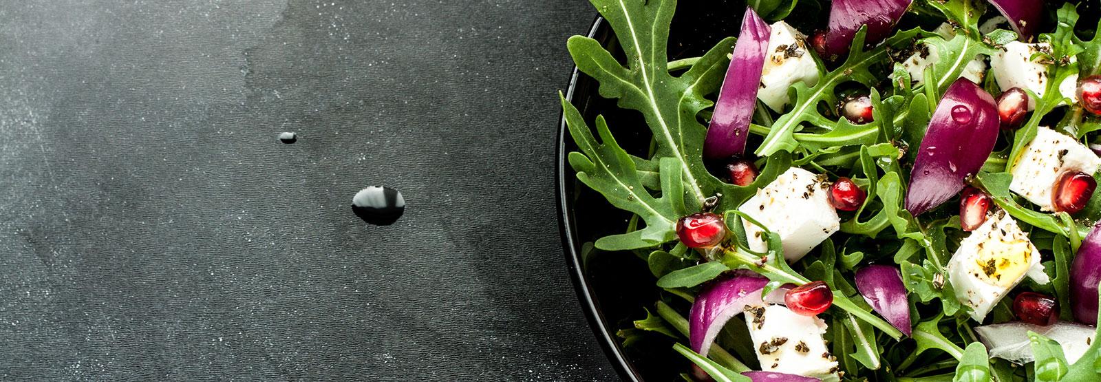 A bowl of healthy rocket salad