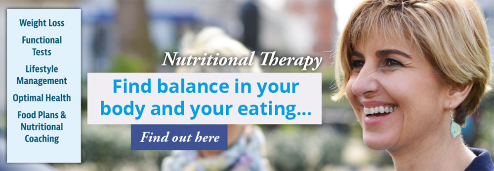 Nutritional Therapy - Weight Loss, Functional Tests, Lifestyle Management, Optimal Health, Food Plans & Nutritional Coaching