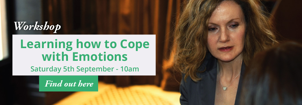 Workshop - Learning how to cope with Emotions - Saturday 5th September - 10am