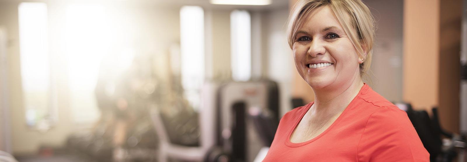 Female in a gym